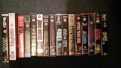 various horror vhs/pal video tapes choose your own