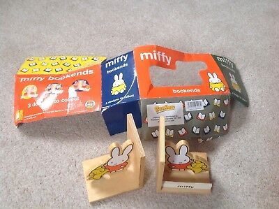 miffy wooden book ends