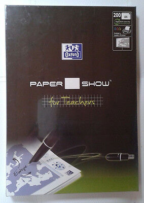 LOT 2 PAQUETS OXFORD PAPER SHOW FOR TEACHERS A4 200 Feuilles papier interactif