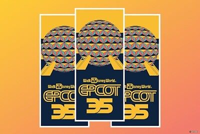 Epcot Disney World 35th Anniversary Park Map One Map