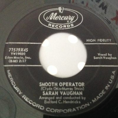Sarah Vaughan-Smooth Operator/maybe It's Because-Mercury 71519. Vg+