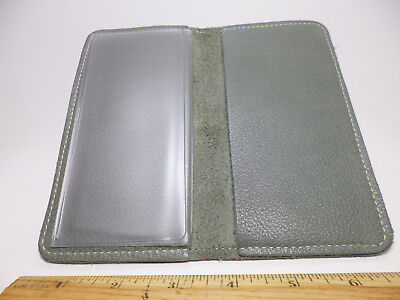 Bay State Exclusive Light Green Pebble Leather Standard Checkbook Cover-US Made