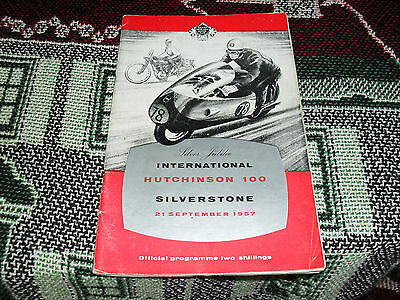 1957 Silverstone Programme 21/9/57 - International Hutchinson 100