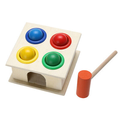 New Hammering Wooden Ball Hammer Box Children Early Learning Educational Toy Set