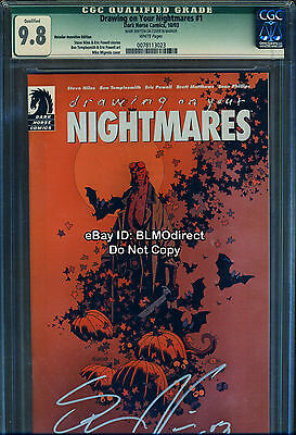 CGC 9.8 Drawing On Your Nightmares #1 RRP Eric Powell Goon Signed Niles Hellboy