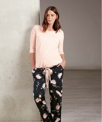Mamas and Papas X Bloom and Blossom Floral Navy Blue Woven Pj Bottoms Size 16