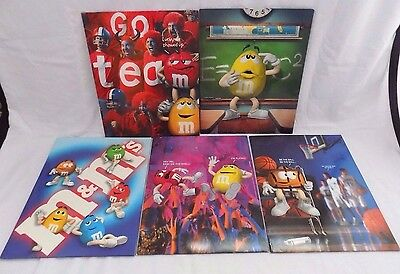5 M&M's Mead 2-Pocket Student School Portfolios Folders M&M Candy Characters