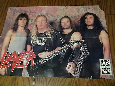 Slayer 1980's Fold Out Poster & Megadeth on reverse