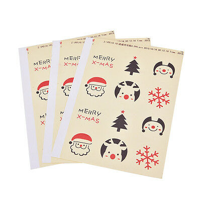 72 Seals Merry Christmas Sticker Envelope Seal Gift Food Wrapping Stickers ^