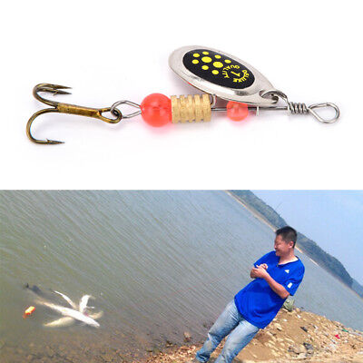 2PC Fishing Hard Lure Bait Leurre Peche Mepps Spoon Fishing Tackle Acesorios ^