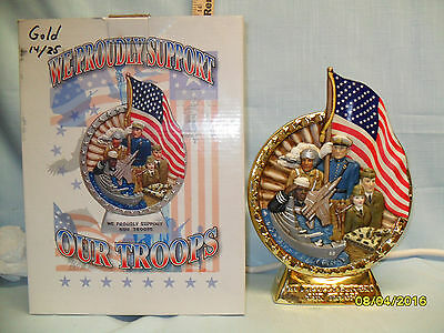 I.A.J.B.B.S.C. GOLD support Our Troops Decanter