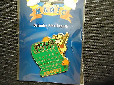 Disney Ds 12 Months Of Magic Calendar Series August 2002 Tigger Pin On Card
