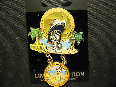 Disney Dcl Southern Caribbean Cruise Captain Mickey Donald Pin Le 1500 On Card