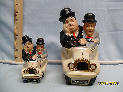 Laurel & Hardy in Car Full size & Mini Decanters