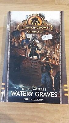 Warmachine Iron Kingdoms novel Watery Graves in mint condition