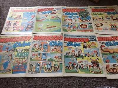 Whizzer And Chips Comics 8 Issues Oct 1984 - Dec 1984 Bundle Decent IPC