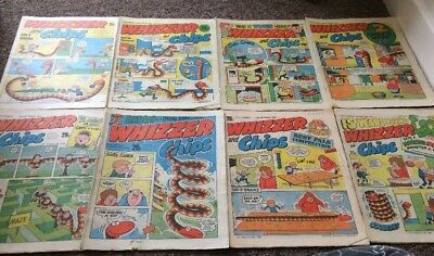 Whizzer And Chips Comics 8 Issues Aug 1984 - Oct 1984 Bundle Decent IPC