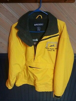 Vintage Air National Guard Yellow Winter Coat, 148th Fighter Wing, Size Small