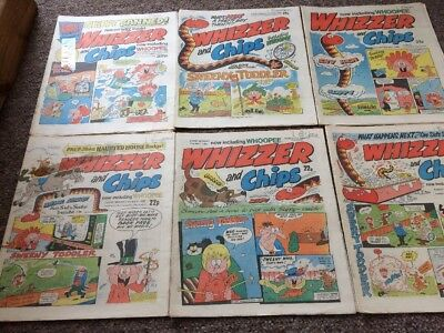 Whizzer And Chips Comics 6 Issues May 1985 - June 1985 Bundle Decent IPC