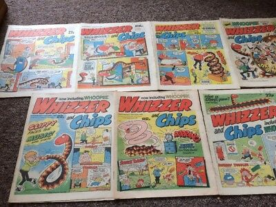 Whizzer And Chips Comics 7 Issues March 1985 - April 1985 Bundle Decent IPC