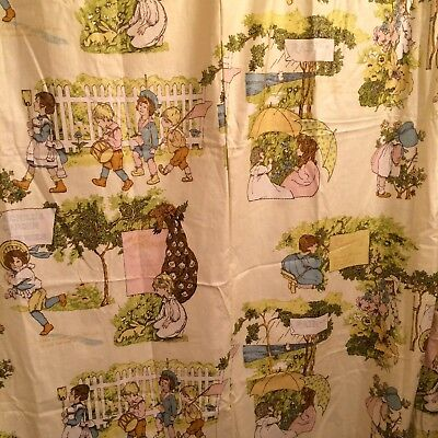 Holly Hobbie And Friends Shower Curtain Cotton Girl Bathroom Fabric