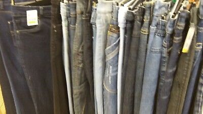10 jeans joblot, wholesale bundle mixed men's and womens all in good condition