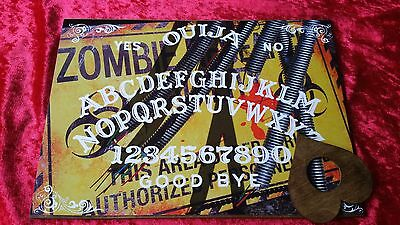 Wooden Ouija Board game & Planchette & instruction. Spirit hunt ghost paranormal