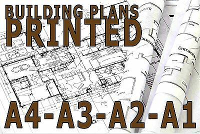 Plan schematic drawing PRINTING CAD. A1 A2 A3, BUILDING PLANS PRINTED