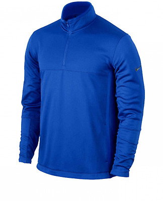 Nike Golf Therma Fit Cover Up Half Zip Mens Sweater Pullover Blue Size Small