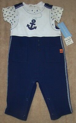 Boys Size 3-6 Months First Impressions 2 Piece Outfit Nwt Short Sleeve Top Long