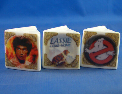 Fine China Thimbles - Set Of Three Miniature Book Style -  Adventure Movies