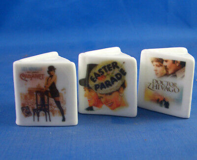 Fine China Thimbles - Set Of Three Miniature Book Style -  Films