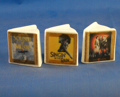 Fine China Thimbles - Set Of Three Miniature Book Style -  Musical Classics