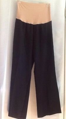 Duo Overbelly Maternity Pants Wide Leg BLACK or GRAY Plus XL 2X 3X Poly Spandex