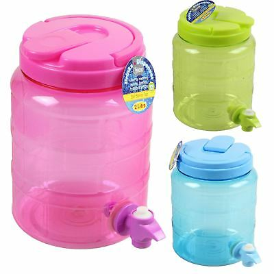 Drink Water Dispenser Cocktail Juice Punch Handled Party Mugs Jar Home Tap Lid