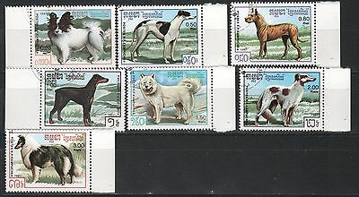 1987 Cambodia. Dogs full set.