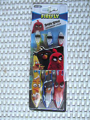 BROSSES A DENTS soft doux ANGRY BIRDS x3