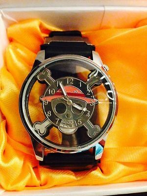 New ONE PIECE MONKEY D LUFFY Pirate Flag Wrist Watch Cosplay Anime Gift