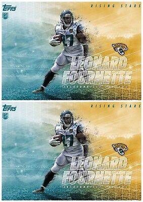 2x RISING STARS LEONARD FOURNETTE Topps Huddle Digital Card