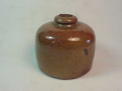 Bee Hive Shaped Stoneware Ink Well Bottle