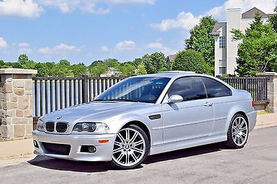 2002 BMW M3 Base Coupe 2-Door 2002 BMW M3 6MT TIAG/BLK 99K 2-OWNER SOUTHERN CAR OEM 19'S CSL S54 XENONS