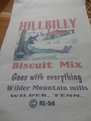 RL-54 HILLBILLY BISCUIT Flour Bag Sack Feed Seed  Novelty Collectible