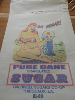 RL-83 OH SUGAR Flour Bag Sack Feed Seed  Novelty Collectible