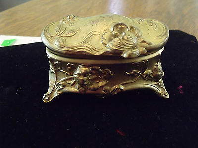 Art Noveau Spelter Jewellery Casket/box