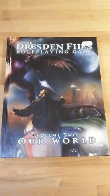 RPG The Dresden Files Volume 2 Our World Hardback in mint condition