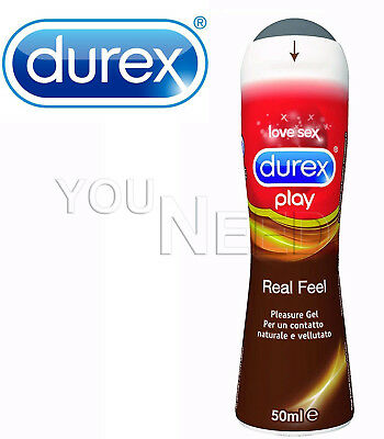 Durex Pleasure Gel Librificante Intimo, Real Feel, 50 ml