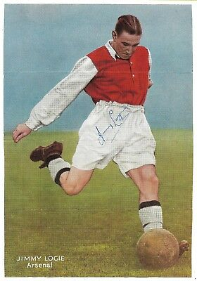 Arsenal - Jimmy Logie Signed / 1950 Fa Cup Final