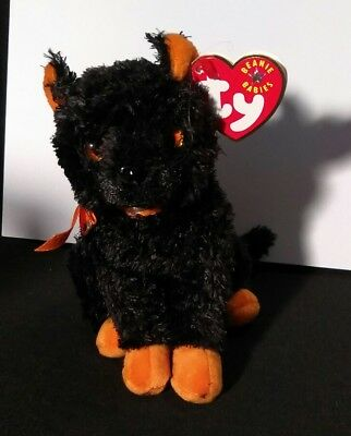 TY Fraidy the Black Cat Original BEANIE BABY 2001 Retired MWMTs Halloween