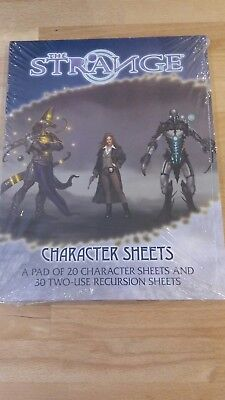 RPG The Strange character sheets in mint condition