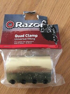 Razor Scooter Quad Collar Clamp - Gold
